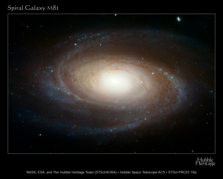 "The sharpest image ever taken of the large ""grand design"" spiral galaxy M81 is being released today at the American Astronomical Society Meeting in Honolulu, Hawaii."