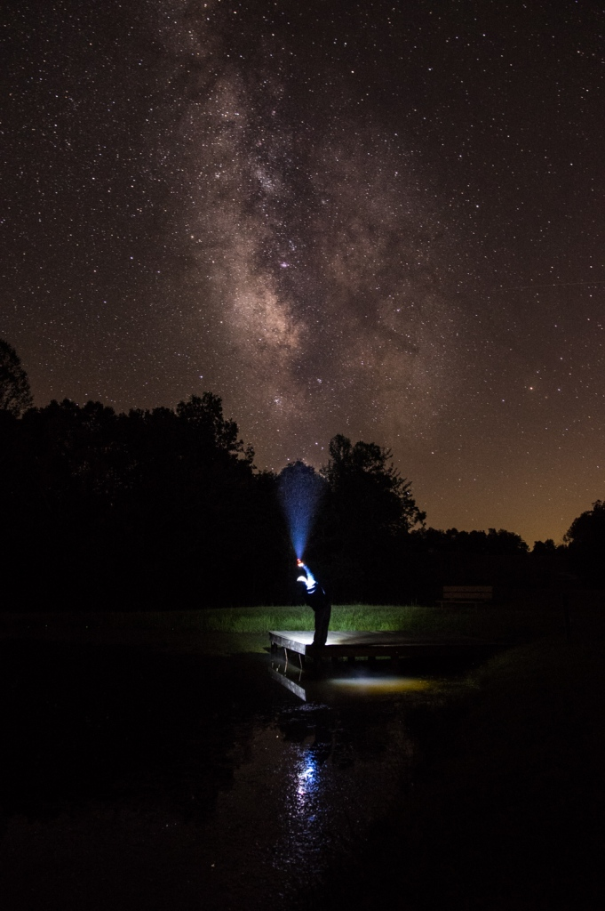 I Found the Milkyway with my Flashlight