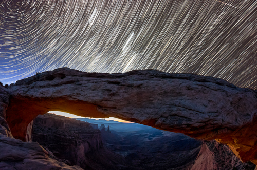Mesa Arch Star Trails