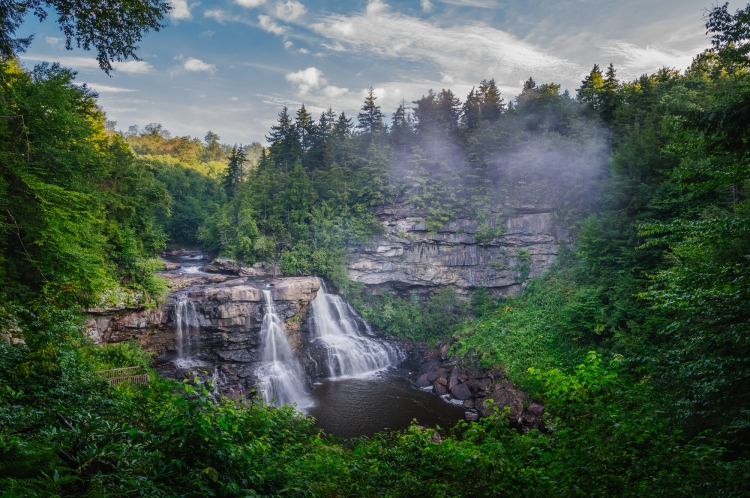 Blackwater Falls Morning Fog